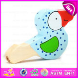 Wholesale Colorful Beauty and Cute Animal Shaped Bird Wooden Whistle Toy W07e005