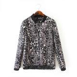 Wholesale High Quality Long Sleeve Leopard Print Bomer Jacket (JP-2015JK66)