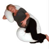 Maternity Pillow Comfort Body Pregnancy Support Shape White Contoured Bed Ne