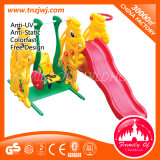 Combined Kids Swing Plastic Small Slide for Sale
