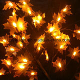 Outdoor Garden LED Red Maple Tree Artificial Flower Light for Indoor Hall Decoration