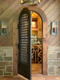 Modern High Quality Wine Cellar Wrought Iron Door