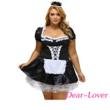 Plus Size Late Nite Maid Outift Party Costume