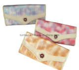 Flap Snap Closure PU Leather Women Wallet Sets with Multi Sizes (Th6006)