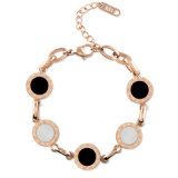 Roman Numerals Jewelry Fashion Women White Shell Charm Bracelet