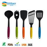 Wholesale Heat Resistant 5PCS Silicone Nylon modern Colorful Kitchen Utensil Set