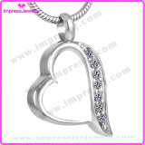 Ijd8221 Heart Shape 316L Stainless Steel Cremation Pendant Necklace Memorial Locket Urn for Pet Ashes Keepsake
