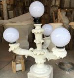 Sandstone Resin Euro Style Sculpture Pillars Lamp for Building Decorations