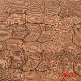 Abrasion Resistant Real Wood-Grain PU Leather for Shoes