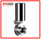 """Stainless Steel Sanitary 1.5"""" Pneumatic Actuator Triclamp Butterfly Valves"""