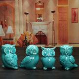 Mini Ceramic Owl Figurines Statues House Gift Tabletop Shelf