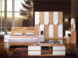 2016 Hot Sale Double Bed with Solid Wood Frame Bedroom Furniture (HX-LS019)