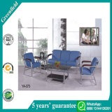 Popular Best Cheap Blue Comfortable Modern Leather Office Couch Reception Sofa