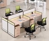 4 Seats Straight Desk Workstation Cluster Staff Office Partition (HX-NCD085)