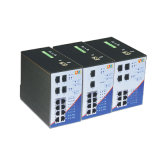 8/10/12 Port Full Giga Managed Industrial Ethernet Switch (112M)