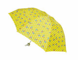 3 Fold Umbrella with Yellow Lovely Design (OCT-GH025C)