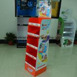Corrugated Cardboard Display with Cmyk Printing, Paper Display Stand, Couurgated Display Stand, Custom Pop Display, Pop Floor Display
