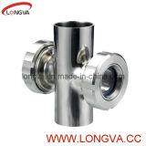 Sanitary Stainless Steel Four-Way Sight Glass