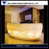 Trunslucent SGS Certificate Artificial Marble Reception Counter (TW-021)