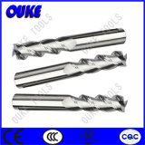 Tungsten Carbide 3 Flutes Milling Cutter for Aluminum HRC50