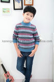 Design Rib Striped Patterned Pullover Children′s Clothing