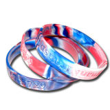 Multi Color Mixed Camouflage Swirl Silicone Bracelet
