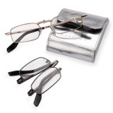 Folding Metal Reading Glasses with Case