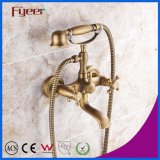 Fyeer Antique Bronze Telephone Bath Shower Mixer Faucet for Wall Mounted