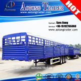 3/4 Axle 80ton Flabed Bulk Cargo Semi Trailer with Sidewalls