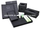 Hotel Straw Mat PU Leather Bill Folders Check in Folders