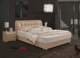 Modern Designed Leaher Bedroom Furniture Square Bed (J330)