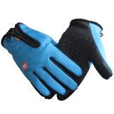 Red Black Blue Waterproof Winter Gloves Men Unisex Zipper up Patchwork Multi-Function Tactical Gloves Women Wrist Hand Warmer