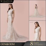 Latest Design Organza Factory Customized Beaded Embroidered Wedding Dress