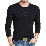 Custom Long Sleeve Blank Designer Men′s Cotton T Shirt