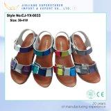 colorful Summer Opem Toe Beach Sandal with PU Upper