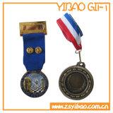 Custom Metal Badge with Ribbon ((YB-LY-C-15)