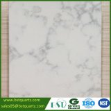 2cm Artificial White Quartz Stone Countertop with Grey Veins