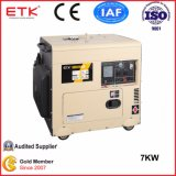 7kw Air Cooled Single Cylinder Single Phase Electrical Start Portable Silent Type Diesel Generator Set