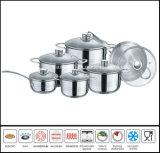 12PCS 304 Stainless Steel Cookware Pot