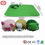 CE Plush Animal Stuffed Pillow with Blanket Lovely Baby Toy
