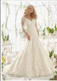 2016 Long Sleeve Deep-V Mermaid Bridal Wedding Dresses Wd2812