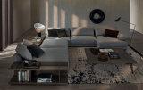 Latest Model U Shape Fabric Sectional Sofa Set with Shelf (FS-010)