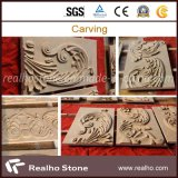 Imperial Gold Marble Embrassed Stone Carvings for Wall Decoration