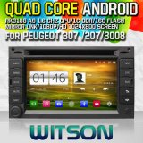 Witson S160 Car DVD GPS Player for Peugeot 307/ 207/3008 with Rk3188 Quad Core HD 1024X600 Screen 16GB Flash 1080P WiFi 3G Front DVR DVB-T Mirror-Link (W2-M017)