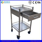 Medical Equipment Use Stainless Steel Hospital Trolley with Drawer