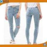 High Waist Design Women Denim Jeans Ripped Jean Woman