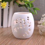 Pierced White Ceramic Candle Holders