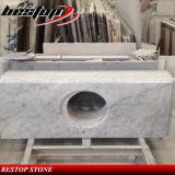 Hot Sale Carrara White Marble Vanity Top for Hotel Bathroom
