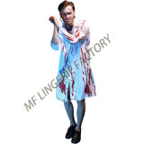 2017 New Design Men′s Zombie Cosplay Doctor Horrible Halloween Costume with Blood
