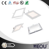 Squre 3W 6W 9W 12W 24W 18W Ultra Thin LED Panel Light with CE&RoHS LED Downlight Ceiling Light